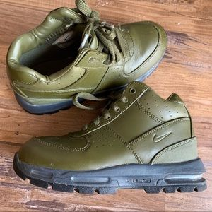 Nike Army Green High top sneaker size 2.5 Y